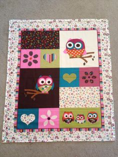 Baby girl owl blanket by bridgetsbebeboutique on Etsy, $50.00