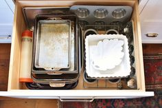 for the love of a house: kitchen drawers- the range side
