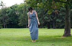 Named patterns - kielo dress in chambray