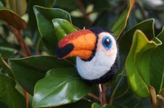 Toucan!  Needle Felted Wool Fiber Sculpture  by GoodNaturedByDani on Etsy $15 until July 20