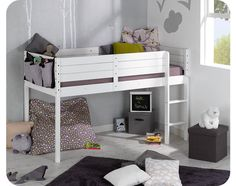 Paraiso Mid Sleeper Bed And Mattress Set White