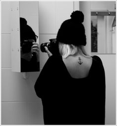 Fantastic Anchor Tattoo Designs and Meaning: Small Anchor Tattoo Meaning And Ideas For Girl On Back ~ Tattoo Design Inspiration