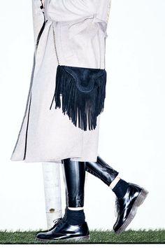 Pochette/clutch  FW 2015 Collection  fringes black