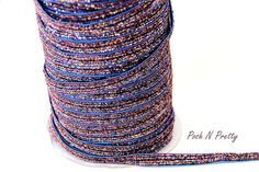 3/8 Glitter Stretch Velvet Elastic 5 YARDS  NO por PoshNPretty
