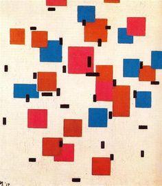 Composition in Color A  -   Artista: Piet Mondrian (1872-1944) Data da Conclusão: 1917 Estilo: Neoplasticism Género: abstract