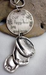 Fingerprint jewelry - cute for mothers day for my mom and all her grandkids...and i'd want one too ;)