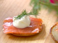Blini with Smoked Salmon from FoodNetwork.com