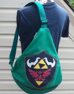 0405cc7e19c0 Hylian Shield Slingback Backpack Legend of Zelda Inspired by  KraftyNerdSquad on Etsy Legend Of Zelda