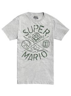 Super Mario Bros. Game Icons T-Shirt   Hot Topic