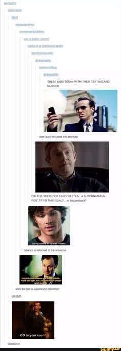 supernatural, doctorwho, sherlock