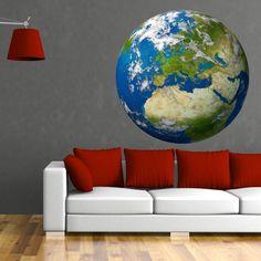 (3005f) Nálepky na stenu - Zemeguľa Európa   ARTSABLONY.SK