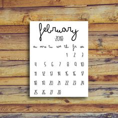 February 2018 Printable Calendar - Instant Download - Birth Announcement Printable Newborn - The week starts on Sunday ------------------------------------------------------- INSTANT DOWNLOAD FEATURES: ------------------------------------------------------- - JPG file in 8.5 x 11 size