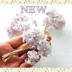 NEW in my Etsy supplies shop - These delicate fabric flowers are a pale lilac colour and are the perfect embellishment for cake decorations, bouquets, corsages, hair styling, millinery and so much more 🌸 Lilac Color, Colour, Cake Decorations, Corsages, Fabric Flowers, Jewelry Crafts, Bouquets, Embellishments, Craft Supplies