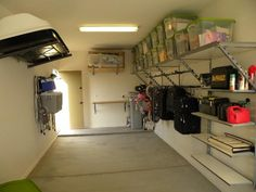 Storage Solution: Stacked Shelving For Easy Access To Storage Bins For The  Garage #Organization | Garage | Pinterest | Garage Organization, Shelving  And ...