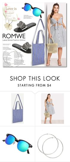 """""""Stripe Slip Dress"""" by ilona-828 ❤ liked on Polyvore featuring Marni, Summer, romwe and polyvoreeditorial"""