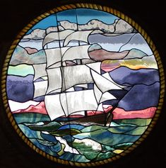 Tiffany Remembered Clipper Ship Window Film Home Entry