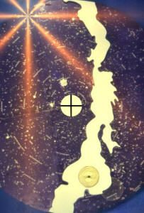 Represents the Sagittarius constellation,  the center of our galaxy,  they knew more than we give credit for in Norse Myths