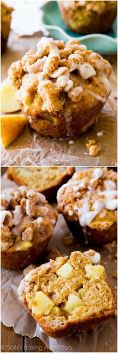 Apple Crumb Muffins are bursting with apples in every single bite!