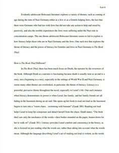 A scholarly source that talks about The Book Thief. https://whitelibrary.dspacedirect.org/bitstream/handle/11210/49/Lee-Grace-thesis-BookThief.pdf?sequence=1