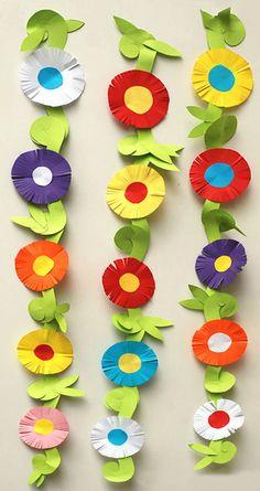 Paper flower garland paper flower garlands, tissue paper flowers, paper crafts for kids, Paper Flower Garlands, Paper Flower Art, Tissue Paper Flowers, Flower Crafts, Paper Flowers For Kids, Paper Crafts For Kids, Preschool Crafts, Easter Crafts, Camping Crafts