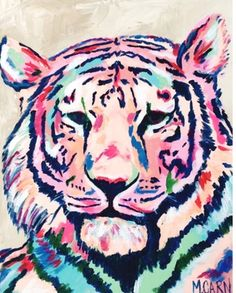 * Vibrant tiger on high quality paper. * printed image on an format * printed locally in Columbia, SC by ByFarr Graphic Design * signed Tiger Painting, Painting & Drawing, Tiger Art, Wildlife Art, Animal Paintings, Art Inspo, New Art, Amazing Art, Cool Art