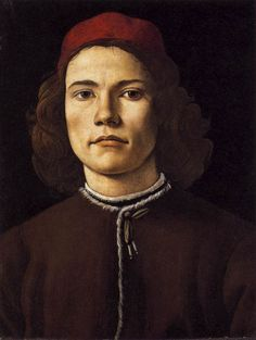 Portrait of a Young Man by BOTTICELLI, Sandro #art