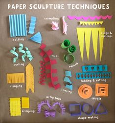 Learning at home with your kids because of the coronavirus? This Art and Play guide will help. Promoting math, literacy and science through art and play. Sculpture Techniques, Sculpture Lessons, Sculpture Projects, Sculpture Art, Paper Sculptures, Art Techniques, Projects For Kids, Crafts For Kids, Paper Art Projects