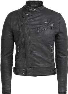 Ralph Lauren Black Label Cotton Biker Jacket