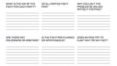 Writing Worksheet Wednesday: Fighting
