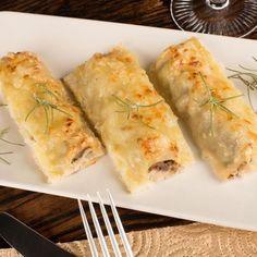 Cannelonis aux aubergines Foie Gras, Crepes, Salsa Bechamel, Sauce Béchamel, Pasta, Fajitas, Queso, Fresh Rolls, Zucchini