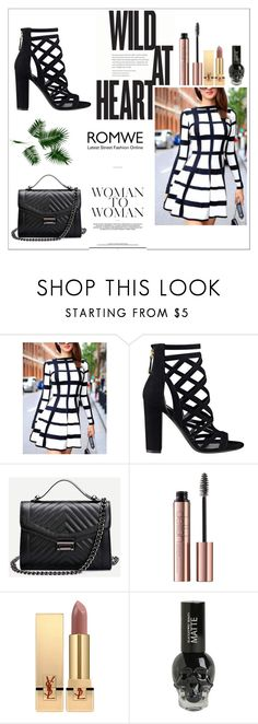 """Black & White Dress x"" by xpinkplaymatex ❤ liked on Polyvore featuring GUESS, Yves Saint Laurent and Hot Topic"