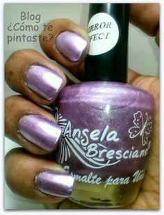 Nuevos colores de Angela Bresciano #swatches #nails #uñas #comotepintaste #esmaltes #polish #violeta #purple #angelabresciano #mirror #metalizados