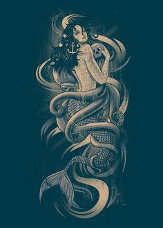 oh shit...cant wait to get my mermaid tattoo (not this design, but i love this!)
