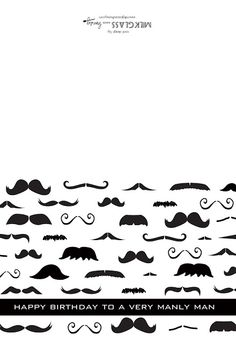 Free Mustache Card Download...