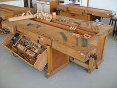 Alguns modelos de bancadas e projetos de marceneiro Bancada de marceneiro  Bancada Marceneiro  Bancada para oficina P...