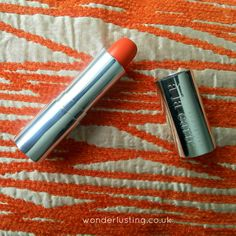 Orange lipstick. Satsuma matte velvet lipstick, Cosmetics a la carte #bbloggers #lipstick #orangelipstick #review #swatches #brownbeauty #makeup