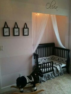 I Love the way they turned the closet into a crib nook♡❤♡
