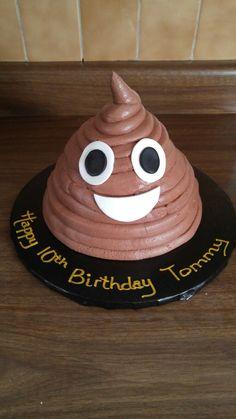 Poop emoji cake 8th Birthday Cake, Birthday Cakes For Teens, Fondant Cakes, Cupcake Cakes, Poop Cake, Thomas Cakes, Emoji Cake, Baby Shower Niño, Cake Wrecks