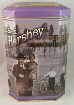 1996 Hershey Foods Candy Building a Legacy Canister Series #3 Tin Box Container