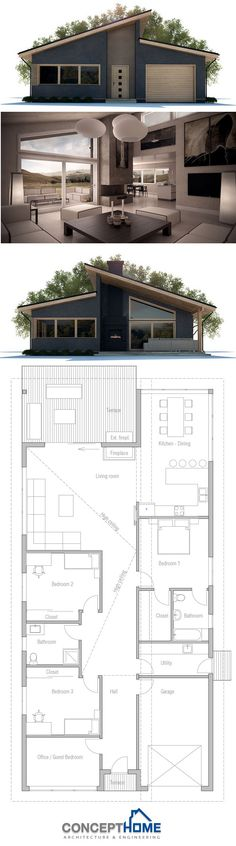 House Design, Home Plans, House Plans, Floor Plans Narrow Lot House Plans, Garage House Plans, Tiny House Plans, House Floor Plans, Modular Home Plans, Modular Homes, Prefabricated Houses, Prefab Homes, Style At Home