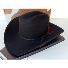 Resistol Cowboy Hat 4X Beaver Fur Felt Black Panhandle RF04740740-PHDL-L 9c42ea607ba