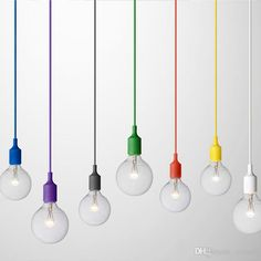 Socket Chandelier Light Fixture Hanging Line Colorful Silicone Rubber Ceiling Pendant Light Lamp Base. Click visit to buy Hanging Light Fixtures, Hanging Pendants, Pendant Light Fixtures, Metal Ceiling, Ceiling Pendant, Ceiling Lights, Ceiling Canopy, Pendant Lamps, Pendant Set