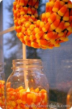 Crafting with candy corn! #candycorn