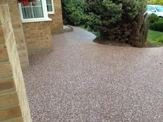 Complete deltex red and white driveway