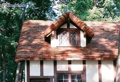 """Gingerbread"" Roof Using Cedar Shingles on a Cottage Home"