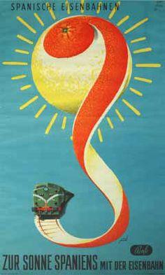 Manolo Prieto. Renfe. 1953. #design #graphic #spain
