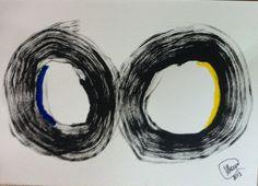 """""""Sem nome"""" acrílica sobre papel 0,42 x 0,30 2013 M. Sigrini Miranda"""
