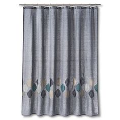 Stitch Ogee Embroidered Shower Curtain - Threshold™