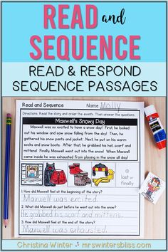 These sequence of events reading passages will help your Kindergarten, 1st, and 2nd grade students learn to identify and describe the sequence of events while reading. Students will read the passage, sequence the events of the story, and answer comprehension questions describing the events in the reading passage. DISTANCE LEARNING: NOW DIGITAL ACTIVITIES IN GOOGLE SLIDES AND SEESAW INCLUDED!! Teaching Kindergarten, Teaching Reading, Student Learning, Teaching Resources, Teaching Ideas, Reading Comprehension Strategies, Comprehension Questions, Reading Passages, Sequence Of Events Worksheets
