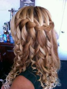 Waterfall Curly Braid Style